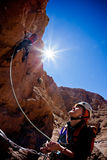 Rock climbing Stock Images