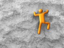 Rock Climbing. 3D rendered image : Rock Climbing Royalty Free Stock Photos