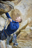 Rock climbing. Royalty Free Stock Photo