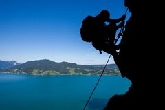 Rock climbing in Austria Royalty Free Stock Photos