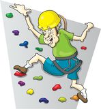 Rock Climbing Baby Boomer Royalty Free Stock Photos
