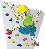 Rock Climbing Baby Boomer. This is a senior citizen enjoying a day of rock climbing Royalty Free Stock Photos
