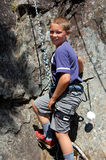 Rock Climbing boy Stock Photo