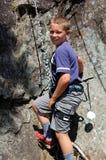 Rock Climbing boy Stock Photo