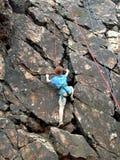 Rock Climbing Boy Royalty Free Stock Image