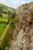 Rock Climbing Cliff. Near Suesca, Colombia royalty free stock photos