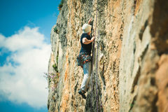 Rock climbing. Royalty Free Stock Photos