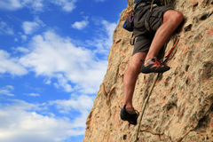 Rock climbing Stock Photos
