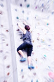 Rock climbing competition Royalty Free Stock Photography
