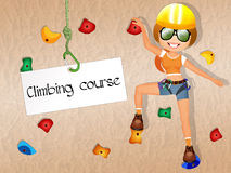 Rock climbing course Royalty Free Stock Image