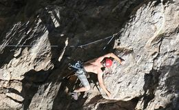 Rock Climbing Dare Devil 2 Stock Photo