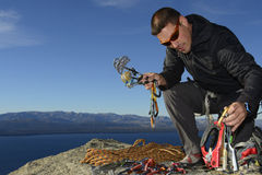Rock Climbing Equipment Stock Photos