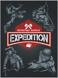 Rock climbing expedition. Vector set - expeditions Royalty Free Stock Photo
