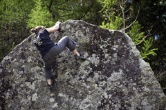 Rock climbing Royalty Free Stock Photos