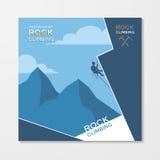 Rock climbing flyer template Stock Photo