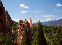 Rock Climbing in Garden of the Gods Park Royalty Free Stock Images