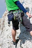 Rock climbing gear Royalty Free Stock Photos
