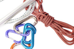 Rock climbing gear Stock Image