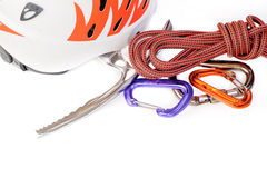 Rock climbing gear Stock Photo
