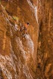 Rock Climbing at Gorges du Todgha in Morocco royalty free stock photo