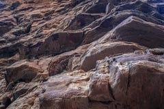 Rock climbing hooks Stock Image