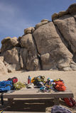 Rock Climbing at Joshua Tree National Park Royalty Free Stock Images