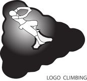 Rock climbing logo Stock Images