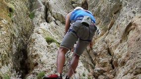 Rock climbing stock video