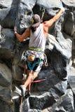 Rock Climbing Man Royalty Free Stock Images