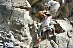 Rock Climbing Man Stock Images