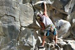 Rock Climbing Man Royalty Free Stock Image