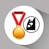 Rock climbing medal sport extreme graphic Stock Photos
