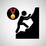 Rock climbing medal sport extreme graphic Royalty Free Stock Photography