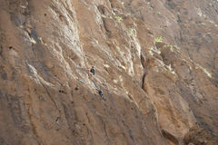 Rock climbing in Morocco Stock Photography