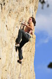 Rock climbing move 2 Stock Photography
