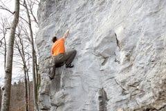 Rock climbing in nature Stock Photos
