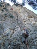 Rock climbing Royalty Free Stock Images