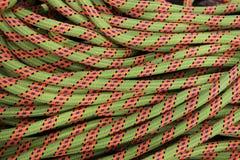 Rock climbing rope Stock Photo