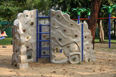 Rock Climbing Set. A rock climbing in a sandbox in a park Royalty Free Stock Image