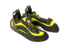 Rock climbing shoes Stock Photo