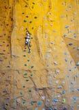 Rock-climbing teenager Royalty Free Stock Photos