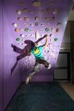 Rock climbing training Stock Photos