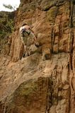 Rock Climbing Two. Man climbing rock Royalty Free Stock Image