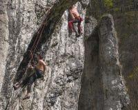 Rock climbing Royalty Free Stock Photos