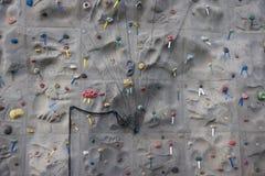 Rock Climbing Wall 1. A close-up of a man-made rock climbing wall Royalty Free Stock Image