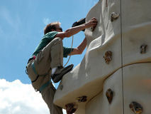Rock Climbing Wall. Outdoor Rock Climbing Wall stock photos