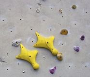 Rock climbing wall. Detail of rock climbing wall, Edinburgh International Climbing Area, Ratho Stock Photography