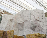 Rock climbing wall Royalty Free Stock Photo