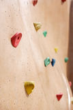 Rock Climbing Wall Royalty Free Stock Photography
