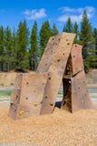 Rock Climbing Wall at Park Stock Photos